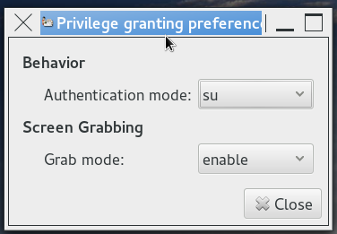 Privilege granting preferences-su