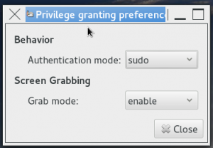 Privilege granting preferences-sudo