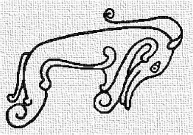 Рис. 1б. «Пиктский зверь». Прорисовка фото с рис. 1а